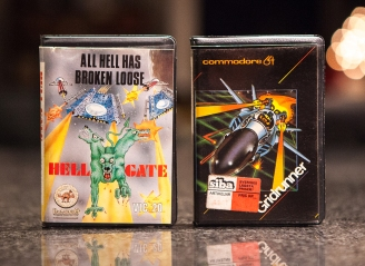 Hell Gate and Gridrunner by Jeff Minter - C64